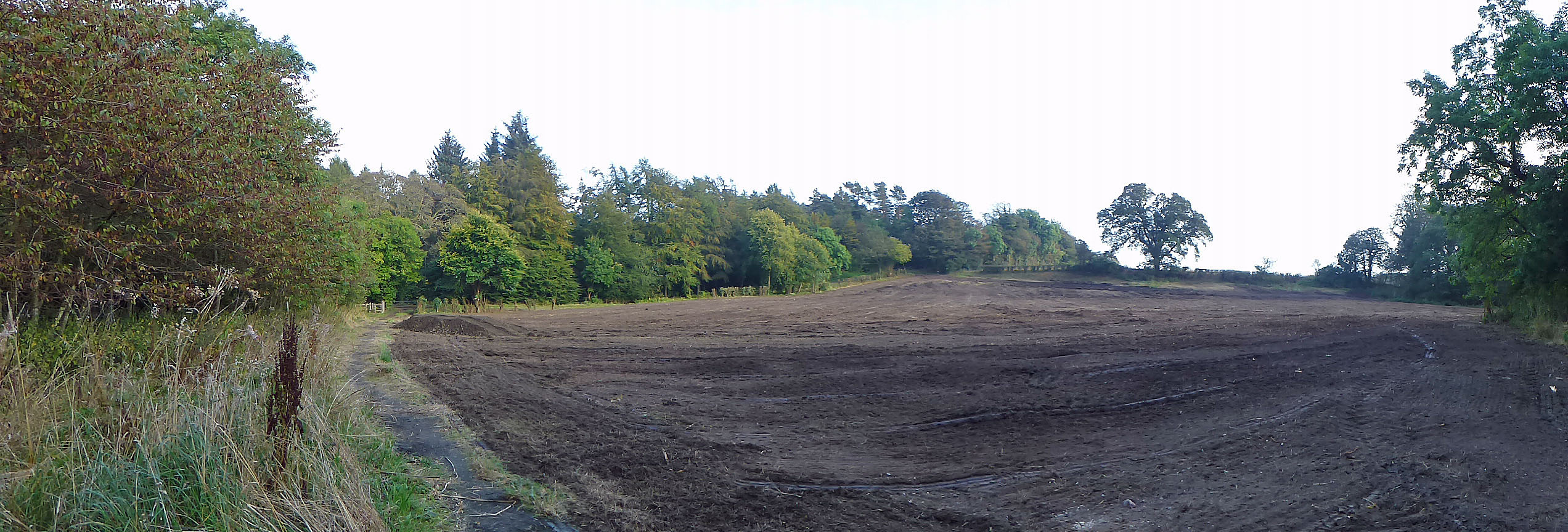 After the groundworks had been completed
