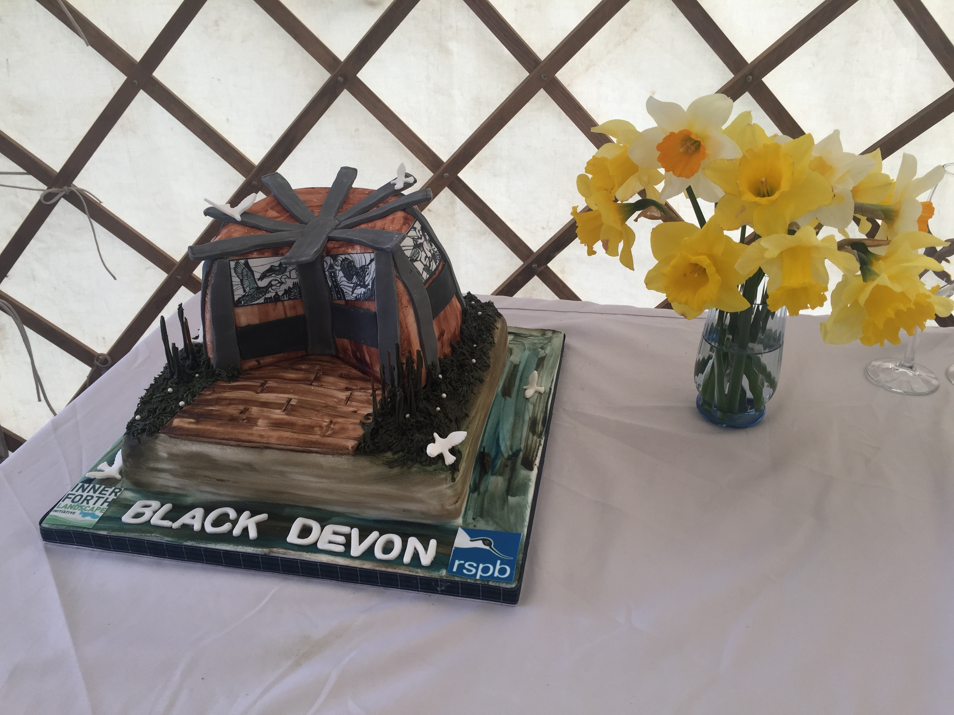 RSPB Black Devon Wetlands Launch Cake 2017